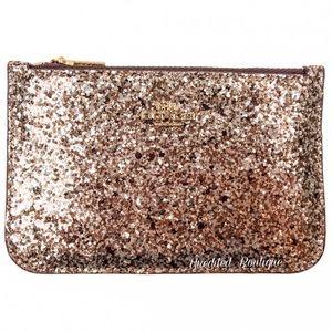 COACH Card Holder Wallet In Gold Glitter